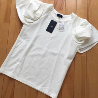 シップス(SHIPS)の新品  シップス プルオーバー ホワイト 袖デザイン(カットソー(半袖/袖なし))