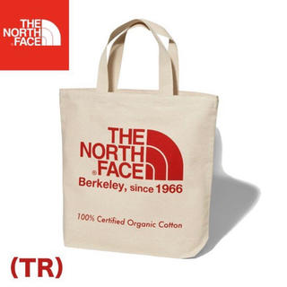 ザノースフェイス(THE NORTH FACE)の19年モデル 新品 未使用 ノースフェイス オーガニックコットン トート  赤(トートバッグ)