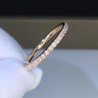 ハーフエタニティ モアサナイト ダイヤモンド リング k18(リング(指輪))