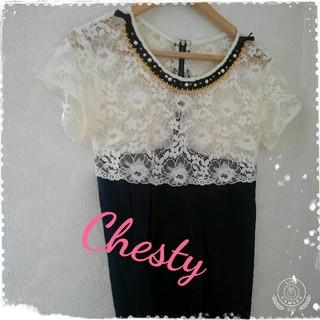 チェスティ(Chesty)のチェスティワンピース Chesty レースワンピース パーティー 結婚式 ドレス(ミディアムドレス)