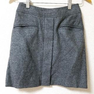 ニジュウサンク(23区)の23区 秋冬 ウール100% グレー ミニ丈タイトスカート 小さいサイズ 30(ミニスカート)