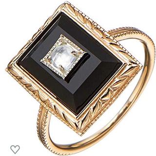 アガット(agete)のブラックカルセドニーアンティークリング2018winter collection(リング(指輪))