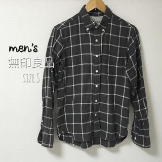 MUJI (無印良品) - men's・size.S・無印良品 グレーチェックシャツ