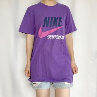 ナイキ(NIKE)のNIKE パープルロゴTEE(Tシャツ/カットソー(半袖/袖なし))
