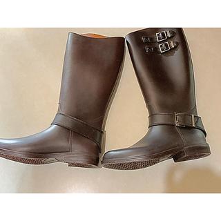 オシャレ・ロングレインブーツ(レインブーツ/長靴)