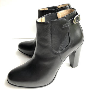 サルトル(SARTORE)の38 SARTORE サルトル ショートブーツ チャンキーヒール 黒 ブーティ(ブーツ)