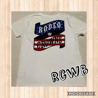 RODEO CROWNS WIDE BOWL - ロデオクラウンズワイドボウル リボンロゴTシャツ 星条旗