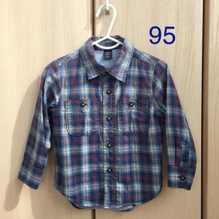 ベビーギャップ(babyGAP)のbabyGap☆シャツ 長袖 チェック 95(ブラウス)