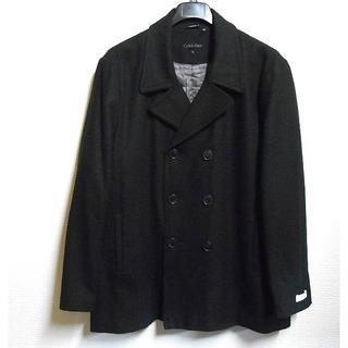カルバンクライン(Calvin Klein)のCK*カルバンクライン/US:XL/黒/ウールブレンドピーコート(ピーコート)