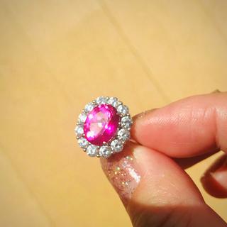 ピンクトパーズの指輪  15号(リング(指輪))