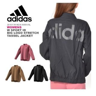 adidas - adidasビッグロゴストレッチタッサージャケット