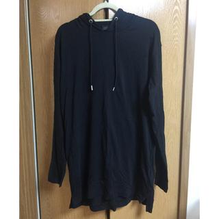 ブラックゴールド(BLACK GOLD)のDIESEL BLACK GOLD ロンティー パーカー 黒(Tシャツ/カットソー(七分/長袖))