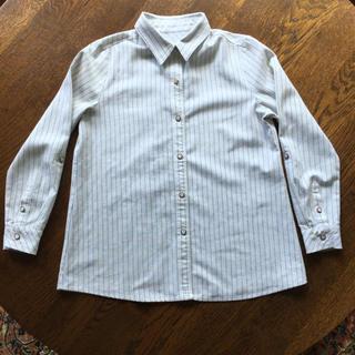 【追加画像】2wayシャツ ブラウス ストライプ  綿麻 白×黒  カシュクール(シャツ/ブラウス(長袖/七分))
