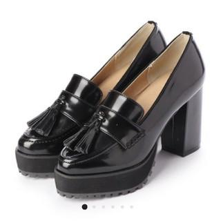 エブリン(evelyn)のminia🎀厚底ローファー(ローファー/革靴)