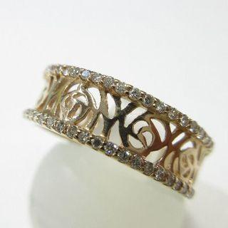 未使用品◆K18ピンクゴールド製指輪◆天然ダイヤモンド0.24ct(リング(指輪))