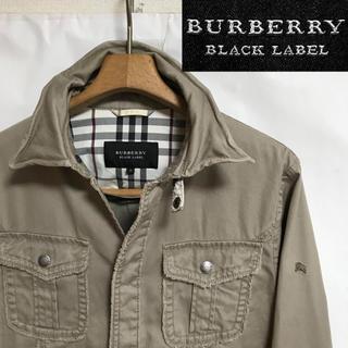 バーバリーブラックレーベル(BURBERRY BLACK LABEL)の希少!BURBERRYバーバリー ホースマーク  ノバチェック シャツジャケット(ミリタリージャケット)