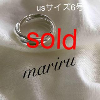 シルバー925 3連リング-6号(リング(指輪))