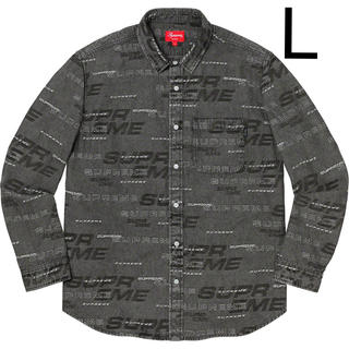 シュプリーム(Supreme)のSupreme Dimensions Logo Denim Shirt L(シャツ)