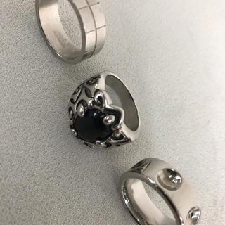 大きいサイズ25号メンズ指輪リング3点セットルイヴィトンやクロムハーツファン必見(リング(指輪))