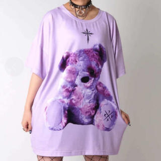 フーガ(FUGA)のTRAVAS TOKYO くま ラベンダー BIG Tシャツ(Tシャツ/カットソー(半袖/袖なし))