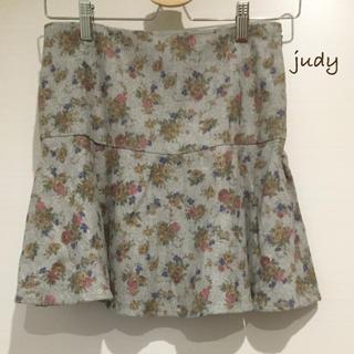 マーキュリーデュオ(MERCURYDUO)のマーキュリーデュオ新品花柄スカート(ミニスカート)