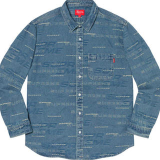 シュプリーム(Supreme)の青S supreme Dimensions Logo Denim Shirt(シャツ)