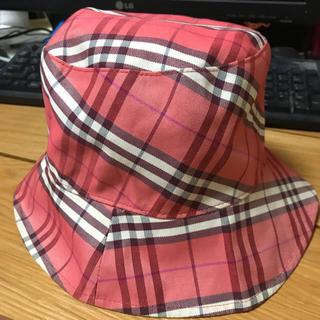 バーバリーブルーレーベル(BURBERRY BLUE LABEL)のバーバリーブルーレーベル♥リバーシブル ベージュ&ピンク 帽子 ハット(ハット)