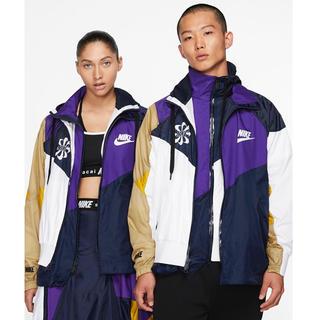 サカイ(sacai)のL Nike Sacai Hooded Anorak 紫 国内正規品(ナイロンジャケット)