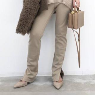 アパルトモンドゥーズィエムクラス(L'Appartement DEUXIEME CLASSE)のL'Appartement Wool Zip Leggings◆ベージュ(レギンス/スパッツ)