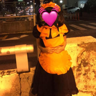 メリージェニー(merry jenny)のオレンジ黒ハロウィンメイド服 仮装(衣装一式)