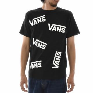 ヴァンズ(VANS)の美品VANS バンズ Tシャツ 総柄 M 黒(Tシャツ/カットソー(半袖/袖なし))