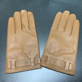 バーバリー(BURBERRY)のバーバリー 革手袋 薄茶 未使用品(手袋)