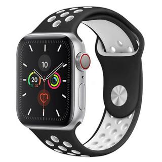 アップルウォッチ(Apple Watch)のApple Watch ベルト スポーツバンド 42mm / 44mm 黒 白(腕時計(デジタル))