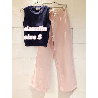 dazzlin - ⑤⓪⑦dazzlin デニム ワイドパンツ ピンク size S