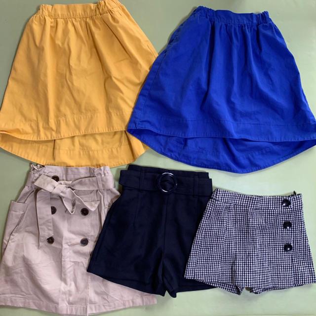 GU(ジーユー)の10点まとめ売り キッズ/ベビー/マタニティのキッズ服 女の子用(90cm~)(スカート)の商品写真