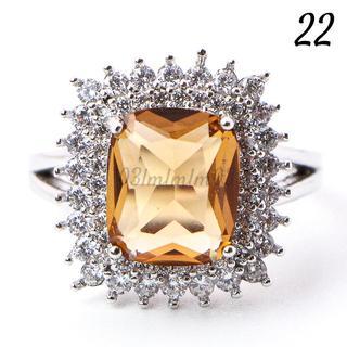 Y14 リング 22号 人工石 トパーズ 大粒 大きいサイズ(リング(指輪))