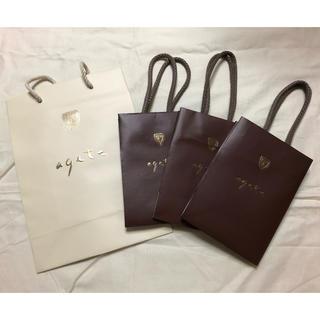 アガット(agete)の☆アガット  ショップ袋 大×1 小×3☆(ショップ袋)