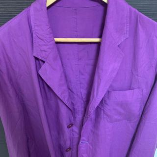 ジョンローレンスサリバン(JOHN LAWRENCE SULLIVAN)の紫テーラードジャケット(テーラードジャケット)