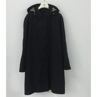 バーバリーロンドン フード付きコート 黒