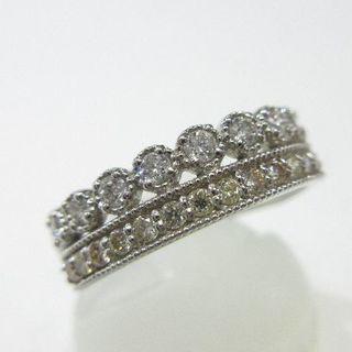 未使用品◆Pt900製指輪◆天然ダイヤモンド0.47ct◆普段使いにオススメ(リング(指輪))