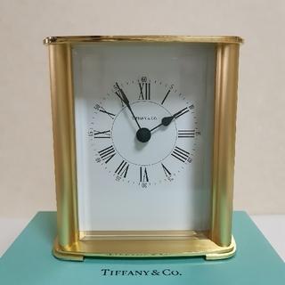 ティファニー(Tiffany & Co.)のティファニー 置時計 ブラスレクタンギュラークロック(置時計)