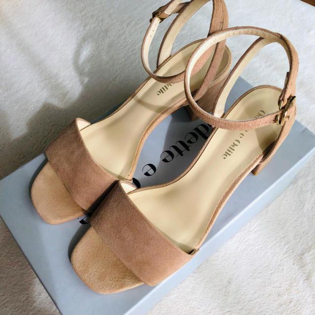 Odette e Odile(オデットエオディール)の美品 Odette e Odile ブロックヒールサンダル 2018夏 レディースの靴/シューズ(サンダル)の商品写真