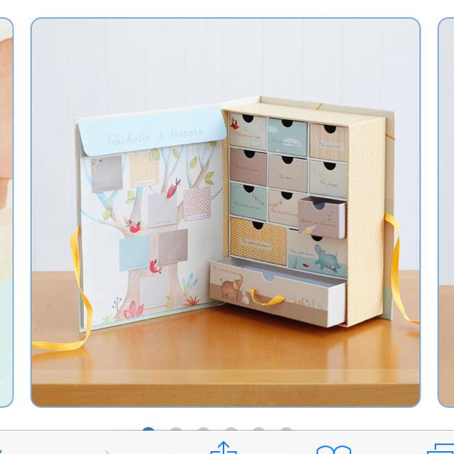 BorneLund(ボーネルンド)のボーネルンド パーポム 思い出ボックス ムーランロティ キッズ/ベビー/マタニティのメモリアル/セレモニー用品(その他)の商品写真