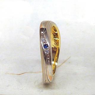 杢目金屋 リング セミオーダー 13号 ゴールド シルバー(リング(指輪))