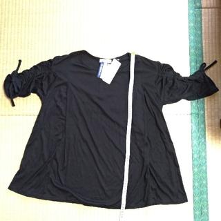 アカチャンホンポ - 授乳口付き 袖ギャザートップス 黒 Lサイズ