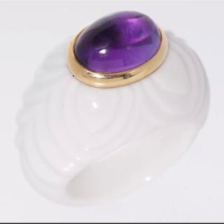 ブルガリ(BVLGARI)のブルガリ750 アメジストのチャンドラリング指輪#52(リング(指輪))