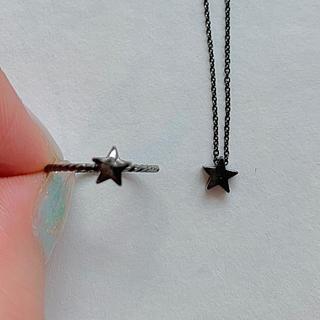 黒星 ネックレス・指輪セット (リング(指輪))