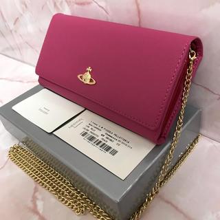 ヴィヴィアンウエストウッド(Vivienne Westwood)のピンクお財布ショルダー❤️ヴィヴィアンウエストウッド❤️新品・未使用(財布)