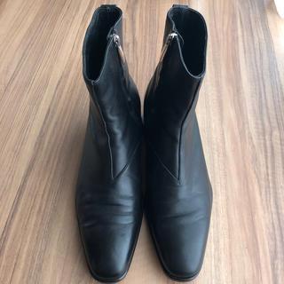 ユナイテッドアローズ(UNITED ARROWS)のユナイテッドアローズ ヒールブーツ  黒  サイズ 42(ブーツ)