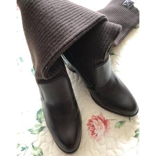コムサイズム(COMME CA ISM)のコムサイズムのニットロングブーツ(ブーツ)